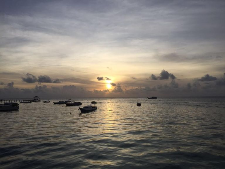 sunrise at derawan