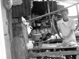Penjual Daun Pisang